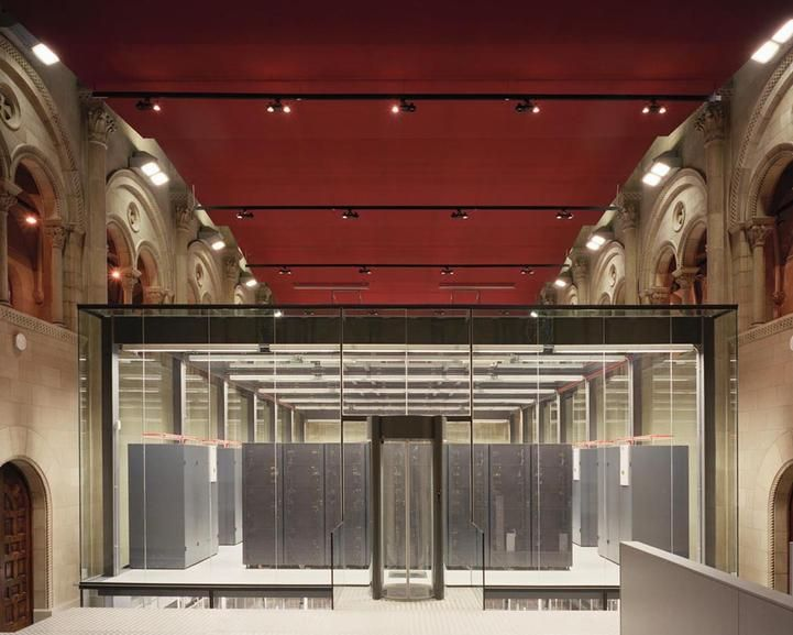 Barcelona Supercomputing Center - Barcelona, Spain, the facility is actually a former chapel, called the Torre Girona at the Polytechnic University of Catalonia.