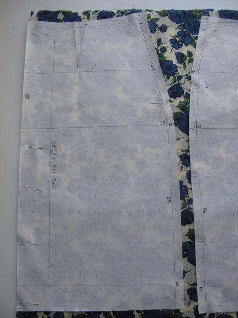 Burda tutorial on making pencil skirt pattern