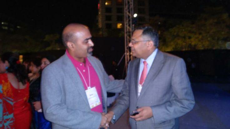 Subhakar Rao with TCS CEO, Mr. Chandrasekharan