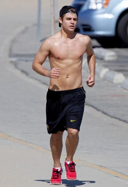 Garrett Clayton SHIRTLESS RUNNER