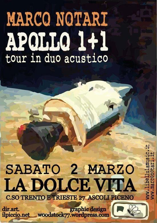 Marco Notari live acustico a LA DOLCE VITA di Ascoli Piceno - Sabatio 2 marzo 2013