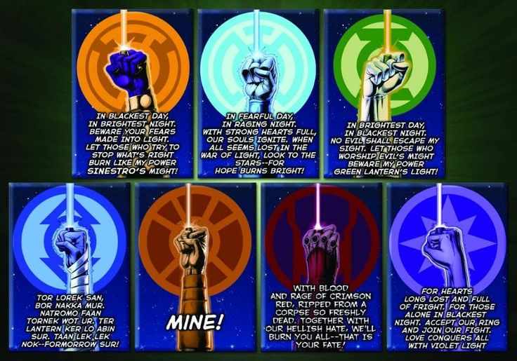 Lantern Corps Oaths <---- LOL so I see they changed the Red Lantern oath a *bit* for the TV show. HAHAHA XD