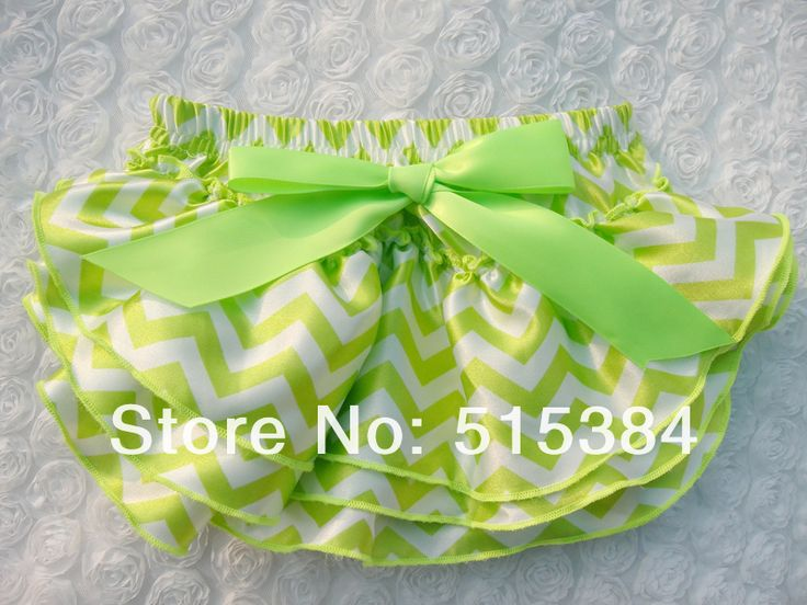 lime green chevron outfit for baby girls wholesale St Patricks Day bloomers baby ruffle bloomers diaper cover