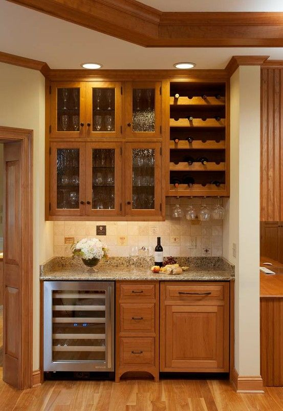 Wet Bar Idea The Wine Bottle Holder And Stemware Slots For Living Room