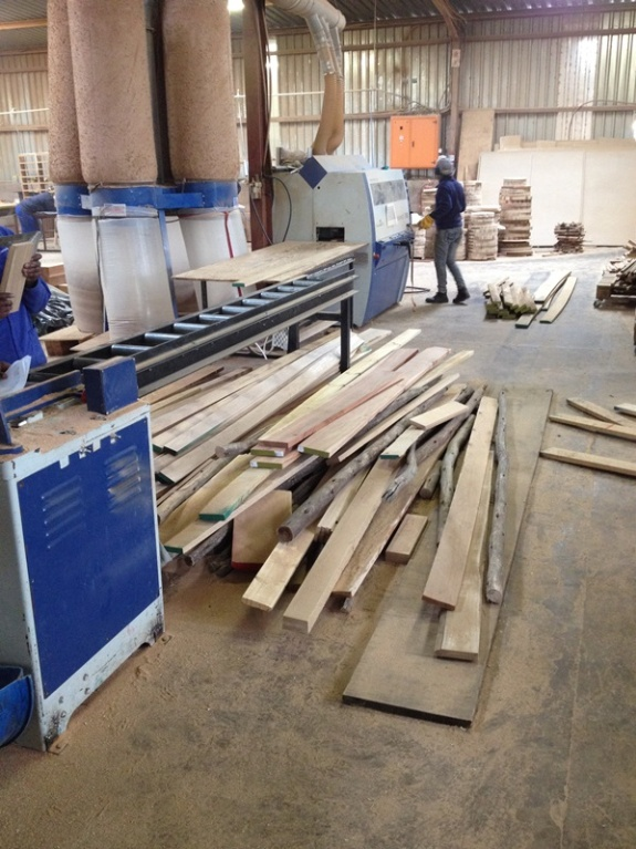 3. Timber is drawn from the store according to sizes requested on each work order. We have a cutting list for every product detailing the timber requirements, specifying the length, width and thickness of every piece.