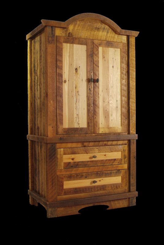 Captivating Reclaimed Wood Great Northern Armoire From Misty Mountain Furniture