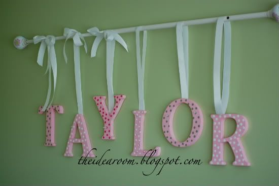 Name Wall Hanging - The Idea Room: I think those would look