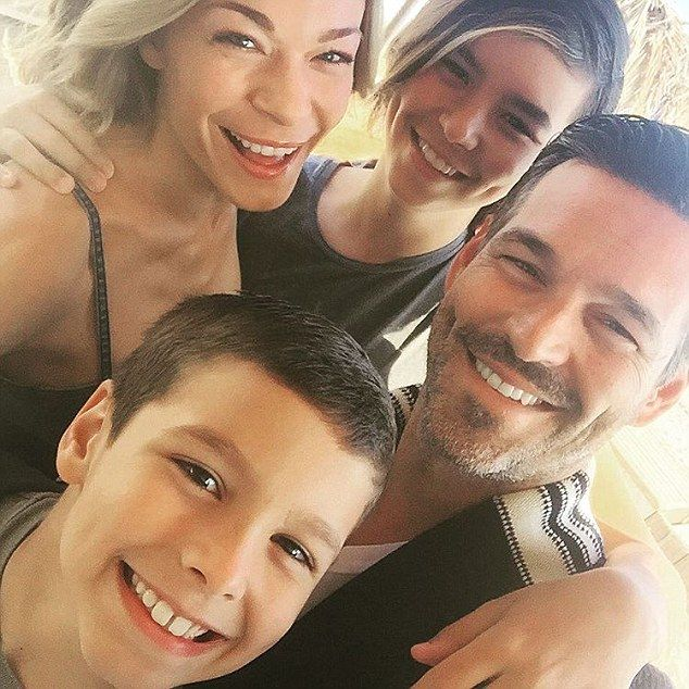 Happy family: LeAnn is step-mum to Eddie's two sons from his previous marriage to Real Housewives Of Beverly Hills star Brandi Glanville