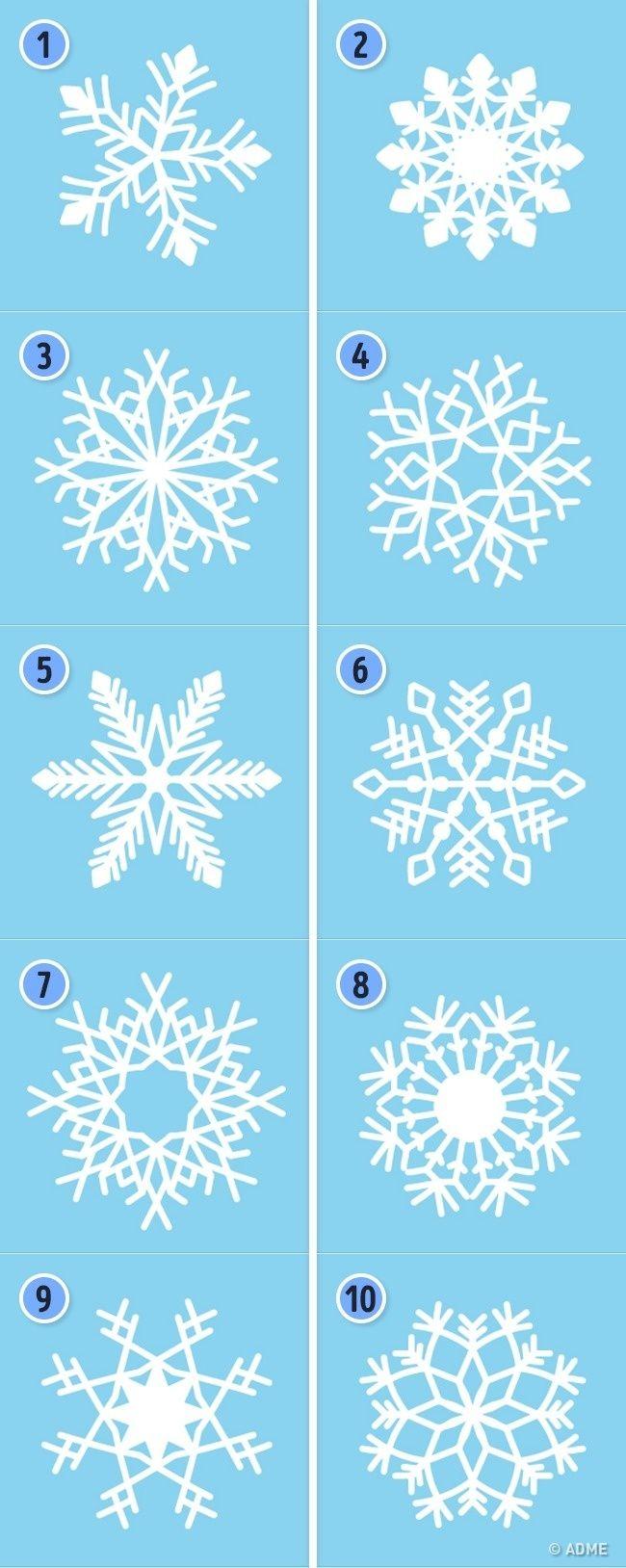 Тест выбери снежинку ❄