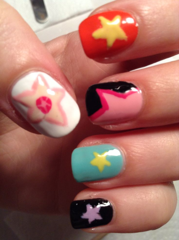 Steven Universe inspired nail art! | fandom nail art ...