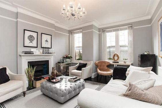 grey and white living room #classy:
