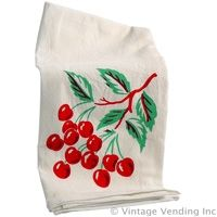 #Retro #Cherries Kitchen Towel - Flour Sack 50s Style  http://www.retroplanet.com/PROD/22907
