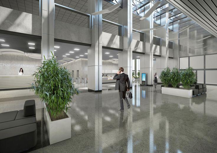Hole wejściowe projekt dla Oxford Tower Warszawa / Entrance hallways; Project for Oxford Tower Warsaw
