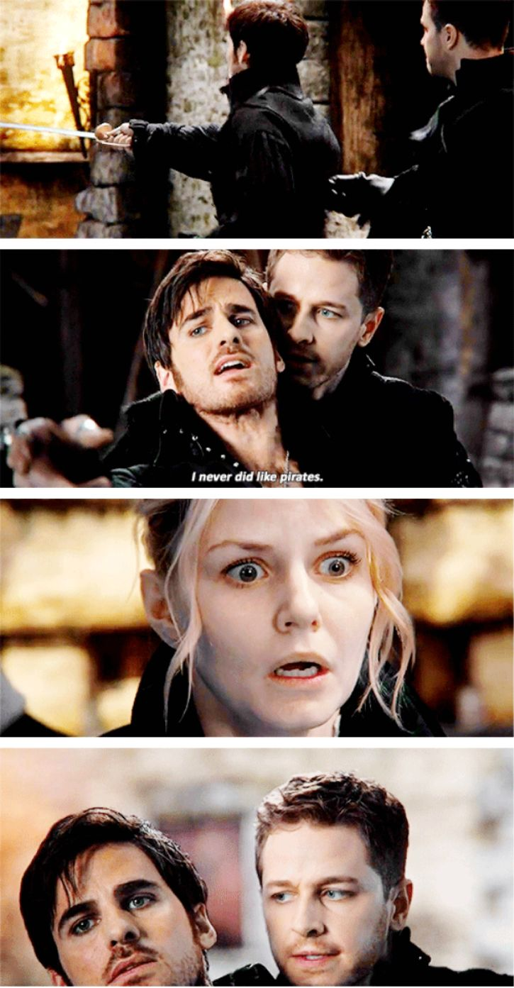"""I never did like pirates"" - Emma, Hook and Dark Charming #OnceUponATime ((Oh God, THAT scene!))"
