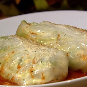 Mario's Stuffed Cabbage from the Chew. Click here for the recipe: http://beta.abc.go.com/shows/the-chew/recipes/Mario-Batali-Stuffed-Cabbage-Ligurian-Style