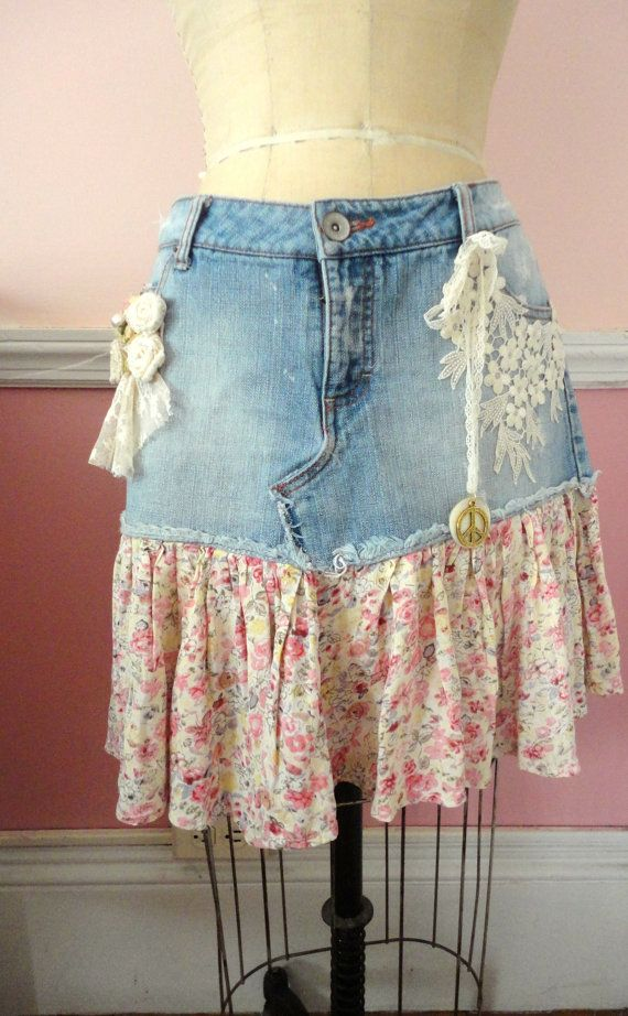 22 Best Ideas About Embellished Jean Skirt Ideas On