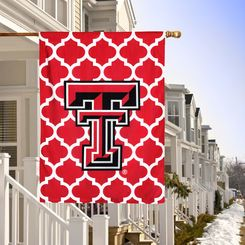 "Texas Tech Red Raiders Double-Sided 28"" x 40"" Quatrefoil Fashion House Flag"