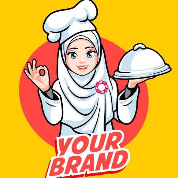 Hijab Chef Woman Premium Vector Premium Vector Freepik Vector Logo Restaurant Woman Chef Desain Logo Gambar Desain