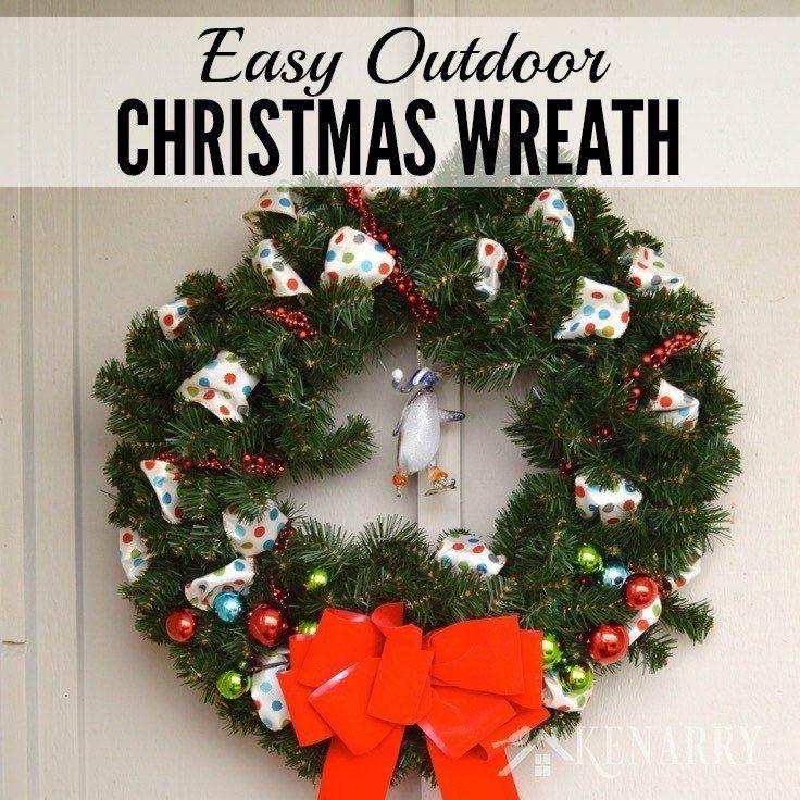 Best 25+ Outdoor christmas wreaths ideas on Pinterest