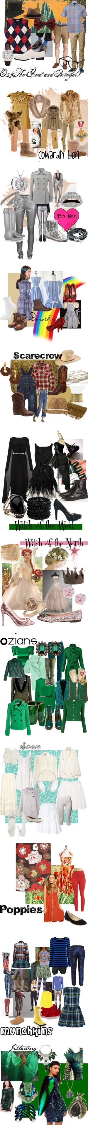 """""""Wizard of Oz Cast of Characters"""" by britt-n-graham on Polyvore"""