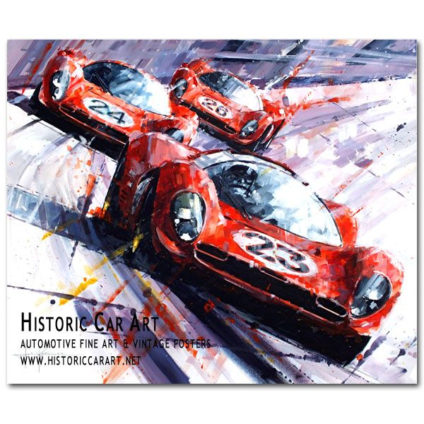 Clean Sweep (Daytona / Ferrari 330P4) Original Painting by John Ketchell