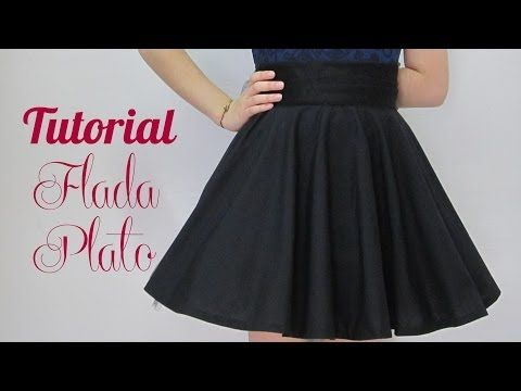 ▶ Tutorial:VESTIDO DE FALDA DE CAPA - YouTube