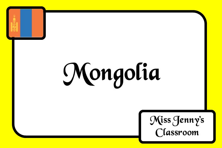Country focus - Mongolia. Board cover. Ideas and activities as well as information to use in the classroom to teach students about Mongolia. Miss Jenny's Classroom.