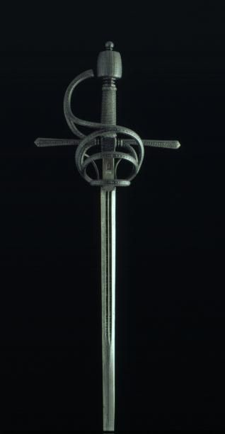 Swept Hilt Sword, 16th Century, Steel, 125.5 cm, Inventory Number 185, Museo Lázaro Galdiano, Madrid.