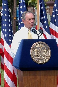Michael Bloomberg - Bloomberg delivering a speech - Wikipedia, the free encyclopedia