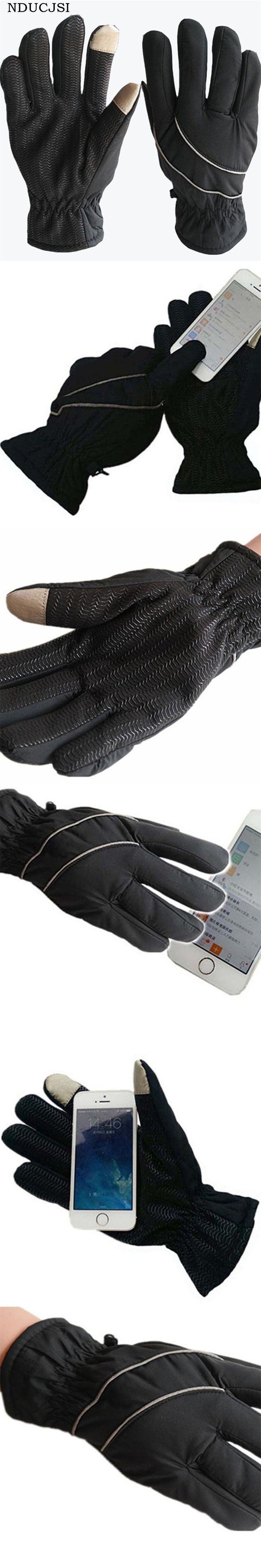 Windproof Gloves Men Anti Slip Gloves Snowmobile Luvas Touched Screen Glove Snowboard Breath Winter Stripe Guante Male Moto G021