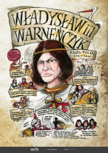 Władysław Warneńczyk - Poczet królów polskich - PlanszeDydaktyczne.pl