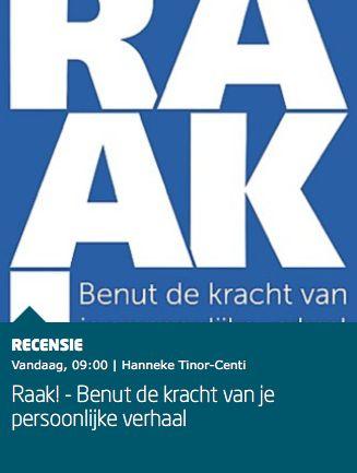 """Mooie recensie van het boek 'RAAK!, benut de kracht van je persoonlijke verhaal' bij Managementboek: """"Mensen raken, zodat ze je geloven en in beweging komen. In 'RAAK' vertellen Reinier Rombouts en Raf Stevens op uiterst rake wijze hoe je jouw publiek bereikt, hoe je vertrouwen creëert en hoe je zorgt dat jouw verhaal raakt."""" #raak #reinierrombouts #rafstevens #mgtboeknl #futurouitgevers"""