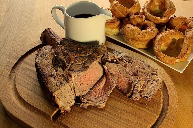 ROAST FORE RIB OF BEEF WITH YORKSHIRE PUDDING