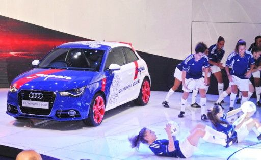 What are they doing at Audi motor show in Japan?  @Audi-A1-Samurai-Blue version