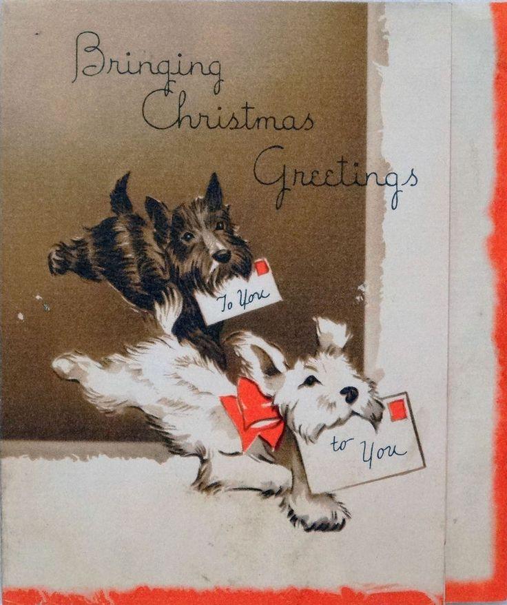 2378 best Christmas Vintage-Dogs images on Pinterest | Vintage ...