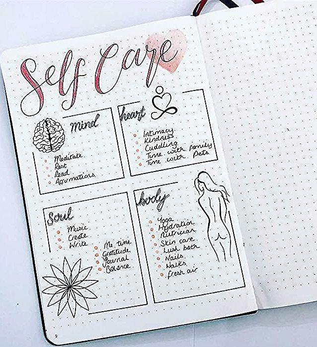Ideen Fur Self Care Tagebucher Bilder Blog Self Care