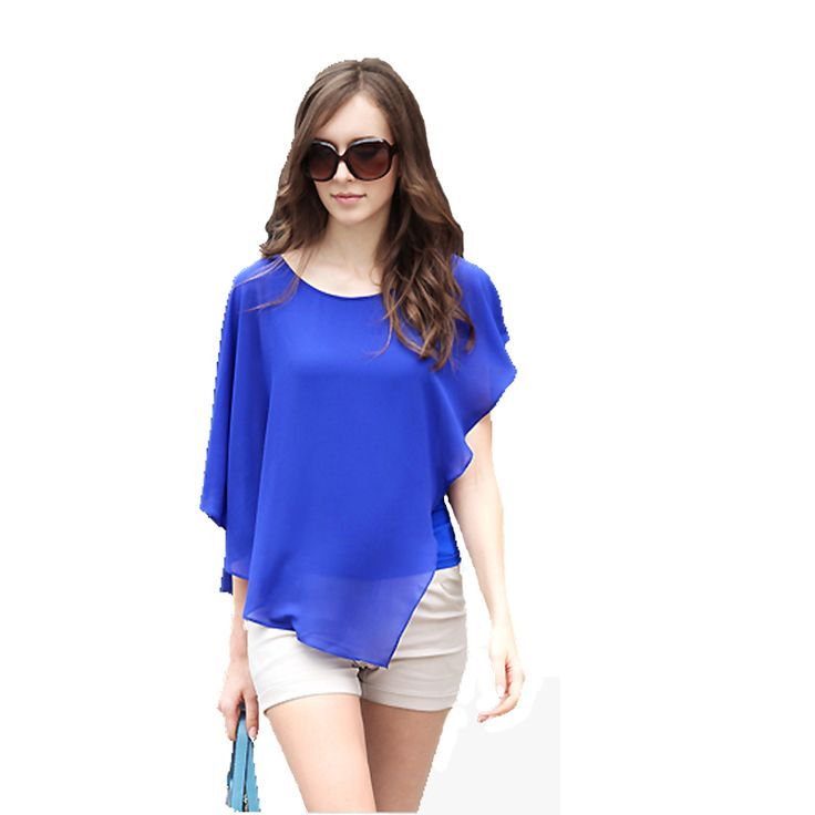 Summer Womans Shirts 2017 Batwing Short Sleeve Chiffon Blouse Women Clothes Casual Blouses Plus Size Womens Tops Blusa Mujer