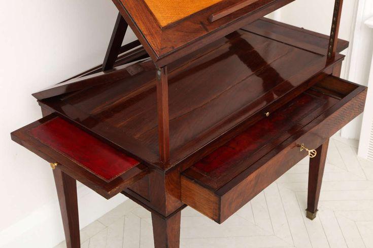 Early 19th Century Continental Mahogany Architect's Table image 4