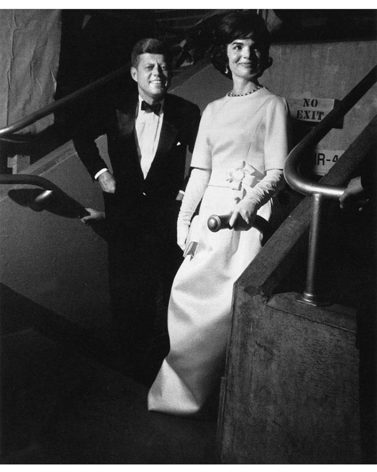 JFK & JBK attend the first of five Inaugural Balls, 1961. Mrs. Kennedy would only make it through the first event.
