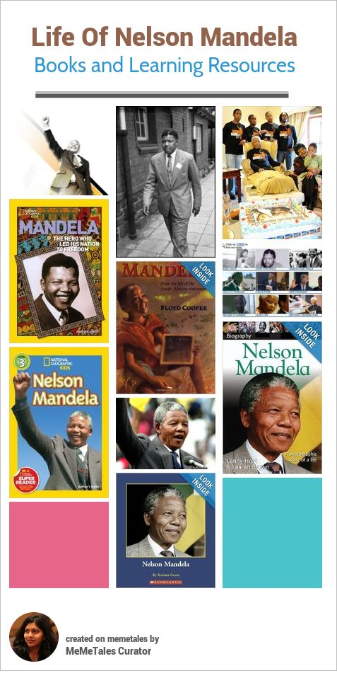 A collection of children's books and learning resources to teach kids about the life of Nelson Mandela and the impact he had on South Africa as a nation and the world as a whole. Explore the websites, read the books and talk about his life with your kids.