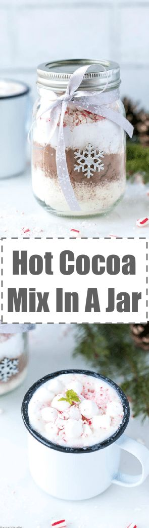 Ever wonder how to make aHot Cocoa Mix In A Jar, a fun and festive holiday gift? It actually is pretty easy, all you need is cocoa, sugar, powdered milk and toppings like mini marshmallows and crushed candy canes (toppings are totally optional).   via @cookinglsl