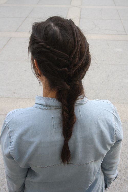Pinterest, Inspired, Inspiration, Hairstyle, Frisuren, Fish Braid, Easy, Einfach, Charmandelle, Beauty, Haare, Hair