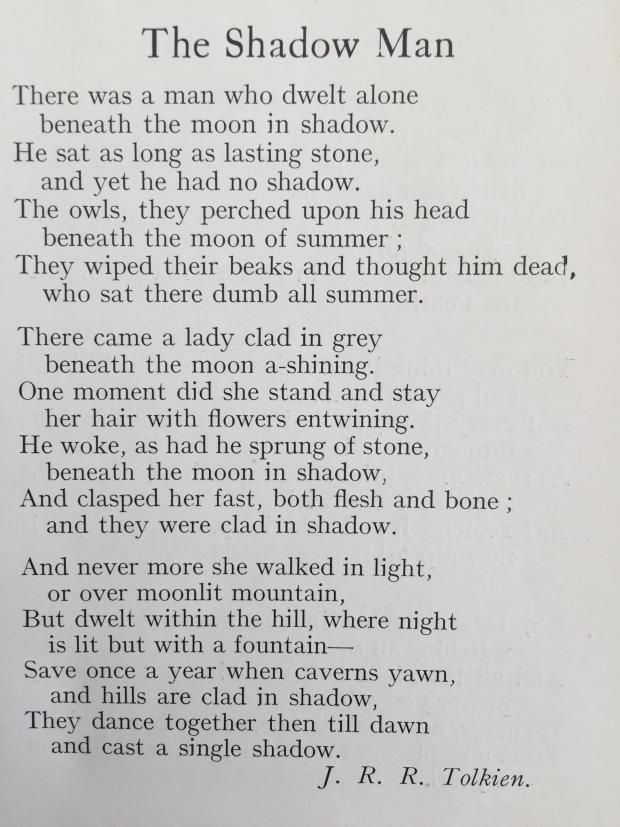 A newly discovered poem by Tolkien! Sounds like Tom Bombadil and Goldberry...