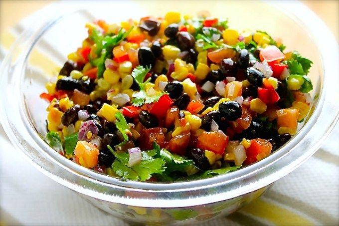 Ensalada de frijoles negros con maíz a la parrilla - SAVOIR FAIRE by enrilemoine
