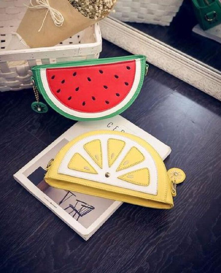 Watermelon Lemon Messenger Crossbody