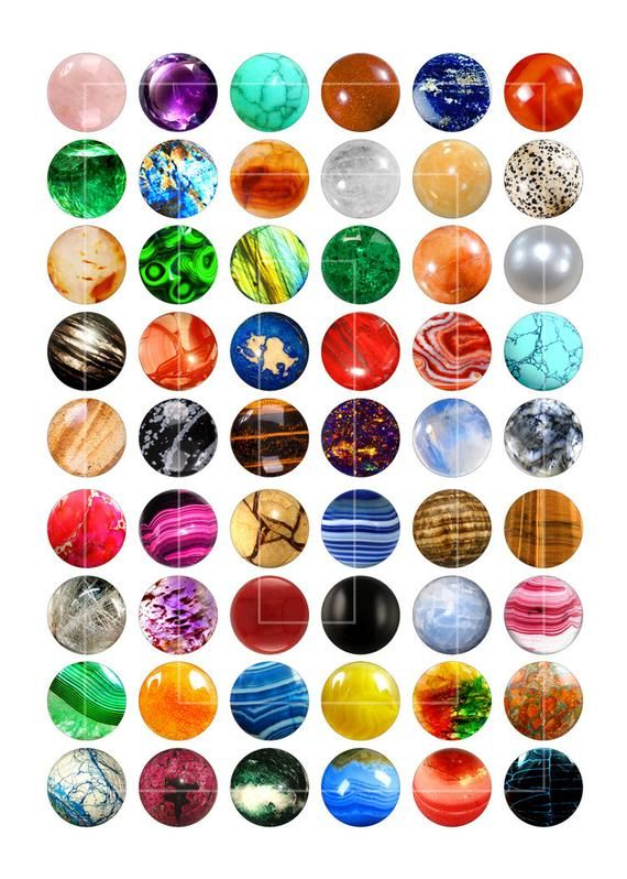 Printable Images Gemstones 10mm 12mm 14mm 16mm Etsy Digital Collage Sheets Digital Collage Printable Image