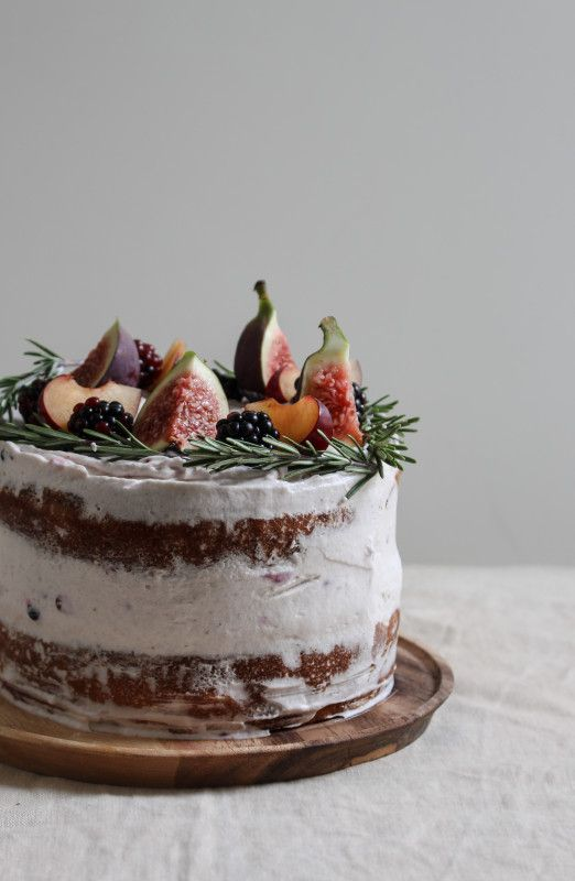black-tea-poached-plum-and-fig-cake-1-41-522x800 | Cakes | Pinterest ...