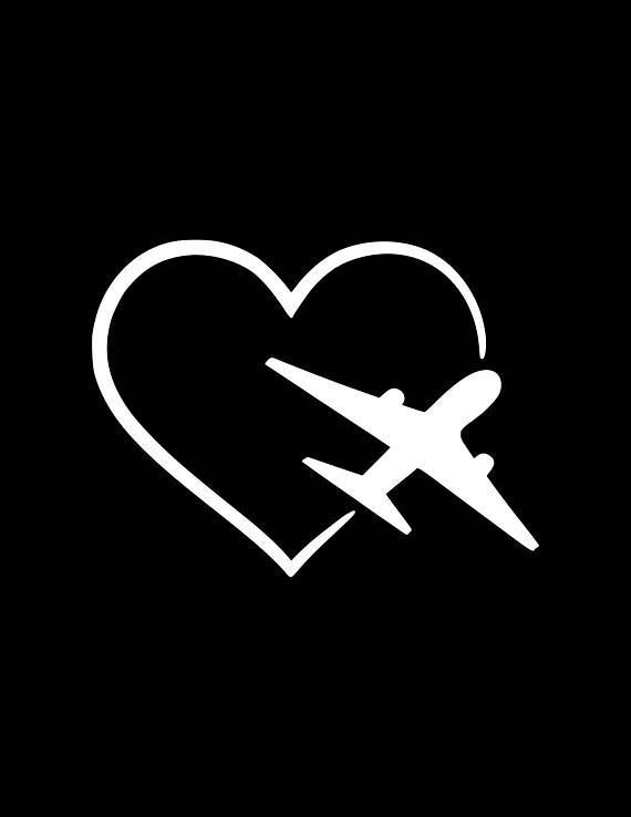 Love Travel Decal Pilot Stickers Airplane Decals Plane Car Decal Travel Sticker Bumper Sticker Vinyl Decal Yeti Tumbler Window Wall etc