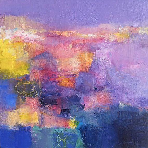 Small Box Painting 1160 - Original Oil Painting - 22.7 cm x 22.7 cm (app. 8.9…