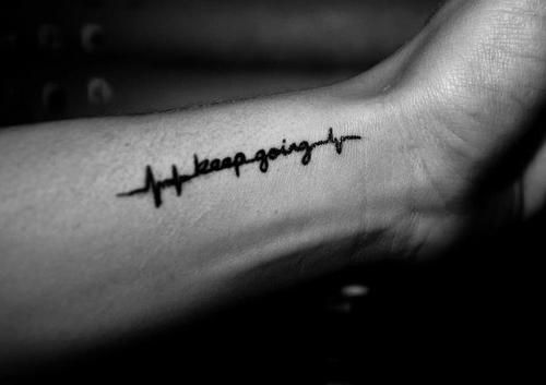 Keep going...im  a lil obsessed with heart beat tattoos because I want one that says Pops in memory of my grandfather that passed away 2 years ago